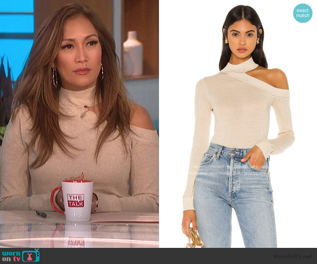 Bexley Sweater by Camila Coelho worn by Carrie Inaba  on The Talk