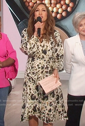 Carrie's animal print wrap dress on The Talk