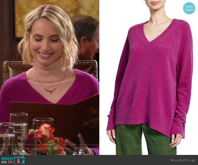 Christian Wijnants Karwat V-Neck Wool Sweater worn by Mandy Baxter (Molly McCook) on Last Man Standing
