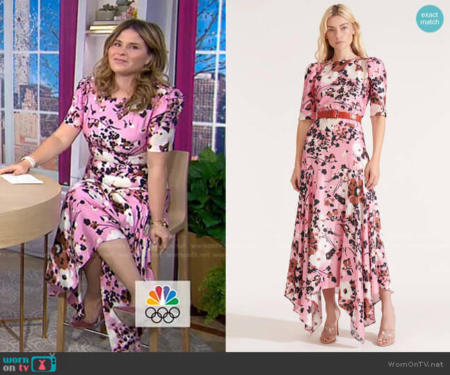 Connie Dress by Veronica Beard worn by Jenna Bush Hager  on Today