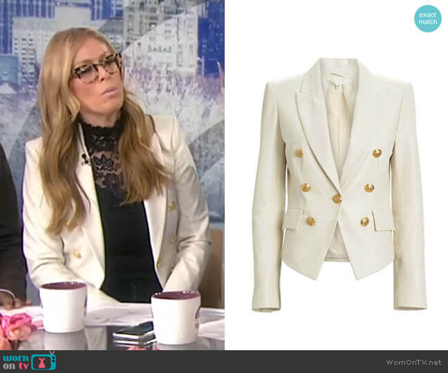 Cooke Leather Dickey Blazer by Veronica Beard worn by Jill Martin  on Today