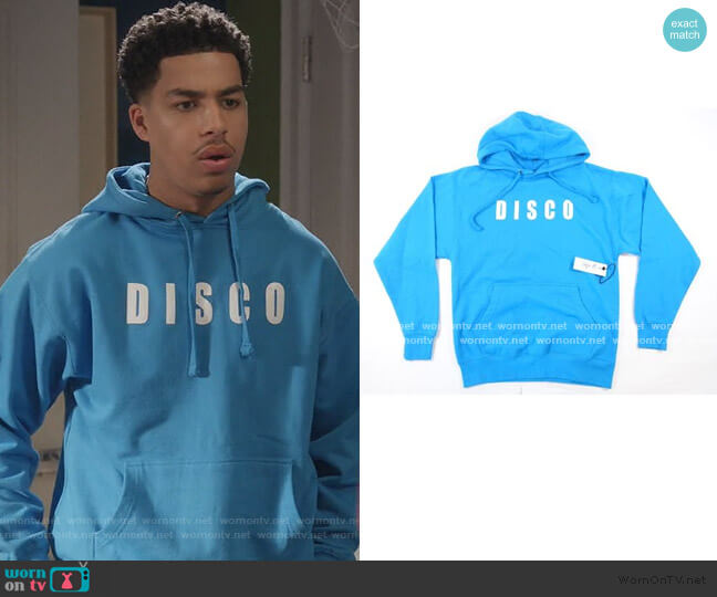 Full Stereo Hoodie by Disco Tuesdays worn by Andre Johnson Jr (Marcus Scribner) on Blackish