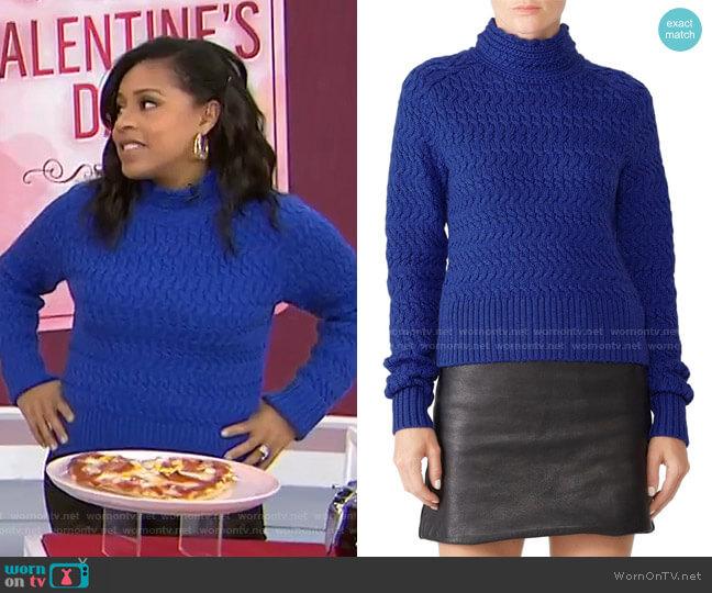 Dyer Sweater by Dreyden worn by Sheinelle Jones  on Today
