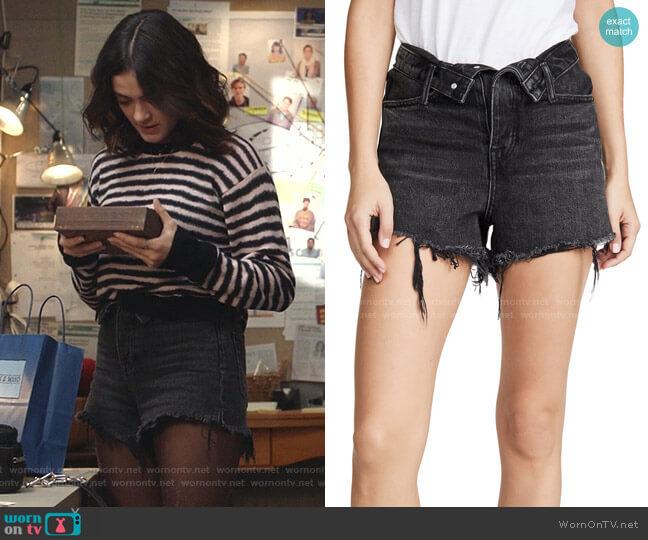Bite Flip Shorts by Denim x Alexander Wang worn by Olive Stone (Luna Blaise) on Manifest