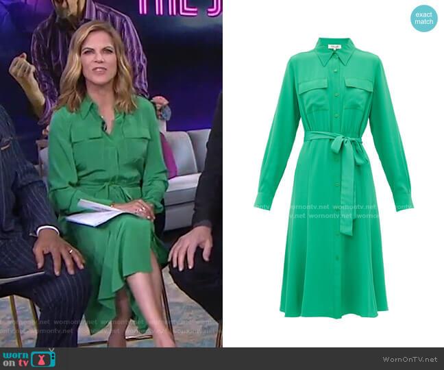 Antonette Midi Shirt Dress by Diane von Furstenberg worn by Natalie Morales  on Today