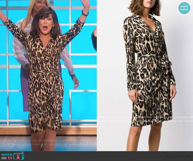 Leopard Print Shirt Dress by Diane Von Furstenberg worn by Marie Osmond  on The Talk