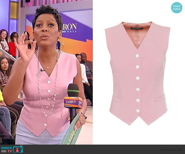 Wool-blend and Silk-blend Satin Vest by Dolce & Gabbana worn by Tamron Hall  on Tamron Hall Show