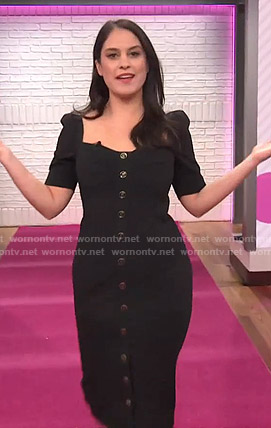 Donna Farizan's black button front dress on Today