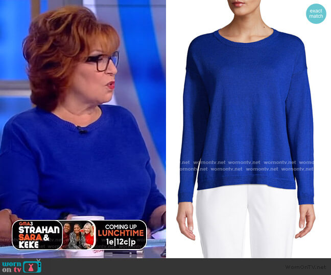 Crew-Neck Boxy Sweater worn by Joy Behar  on The View