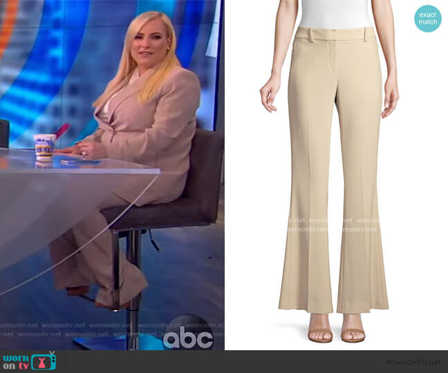 Anna Crepe Flare Pants by Elie Tahari worn by Meghan McCain  on The View
