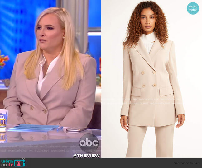 Aster Double Breasted Jacket by Elie Tahari worn by Meghan McCain  on The View