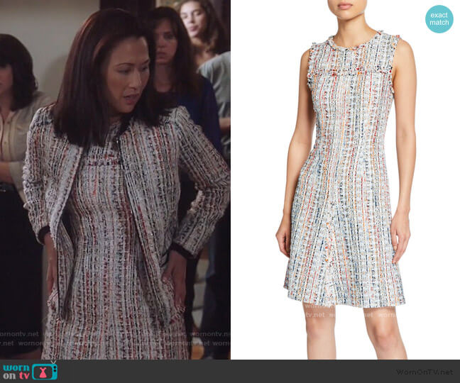 Dean Crewneck Sleeveless Tweed Dress by Elie Tahari worn by Nicole Bilderback on Brooklyn Nine-Nine
