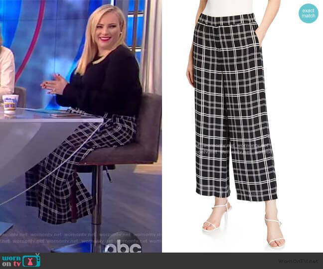 Heidi Plaid Wide-Leg Pants by Elie Tahari worn by Meghan McCain  on The View