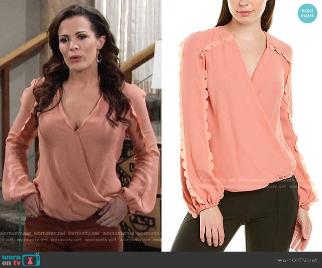 Elisabetta Franchi Scalloped Blouse worn by Chelsea Lawson (Melissa Claire Egan) on The Young & the Restless