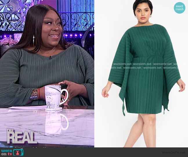 Drama Sleeve Dress by Eloquii worn by Loni Love  on The Real