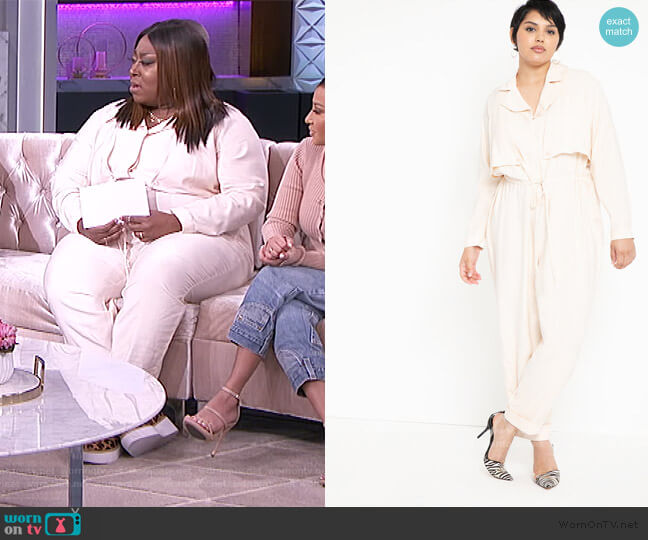 Soft Utility Jumpsuit by Eloquii worn by Loni Love  on The Real