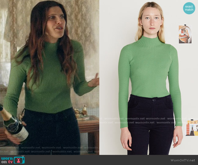 Entireworld Turts and Caicos Sweater worn by Rio (Lake Bell) on Bless This Mess