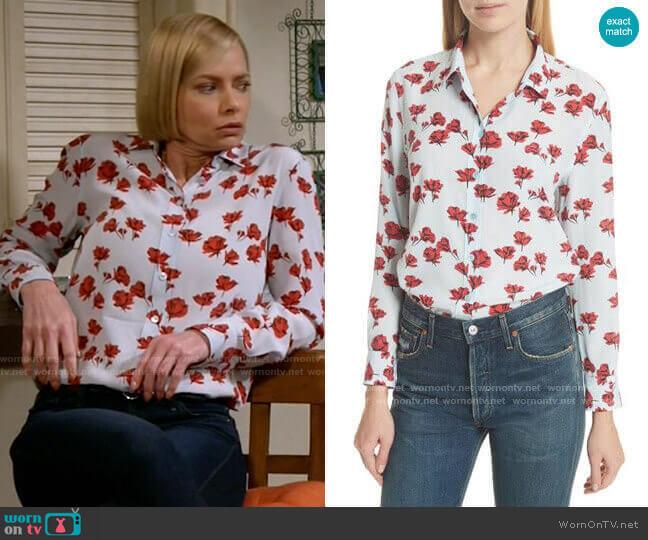 Equipment Leema Shirt worn by Jill Kendall (Jaime Pressly) on Mom