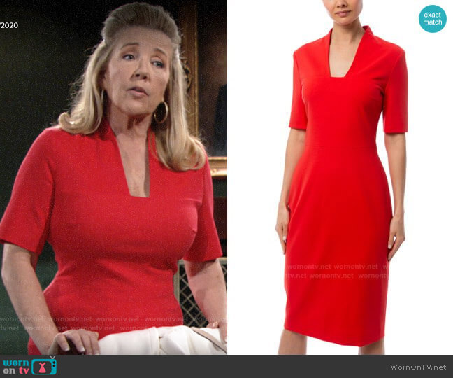 Escada Danisi Dress worn by Nikki Reed Newman (Melody Thomas-Scott) on The Young & the Restless