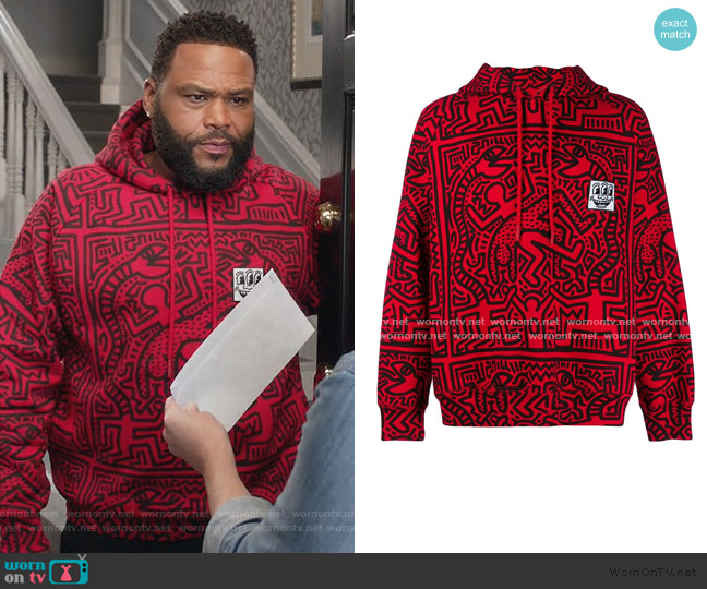x Keith Haring Odysseus Printed Hoodie by Etudes worn by Andre Johnson (Anthony Anderson) on Blackish
