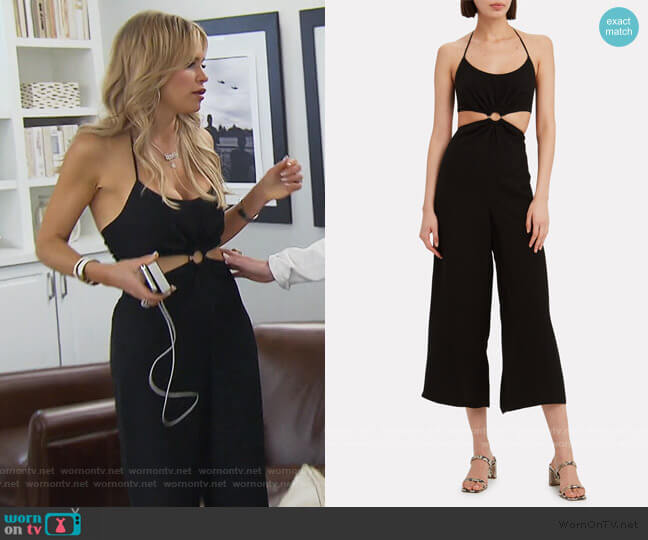 Britannie O-Ring Jumpsuit by Fifth & Mode worn by Jackie Goldschneider  on The Real Housewives of New Jersey