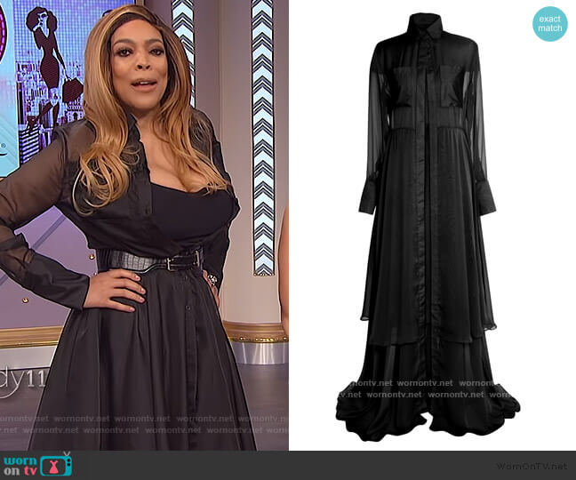 Midnight Lucid Dress by Fenoel worn by Wendy Williams  on The Wendy Williams Show