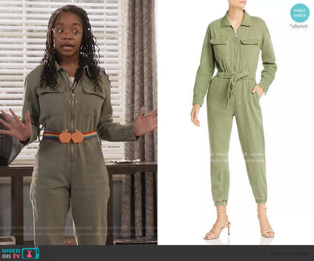 Ring-Zip Boilersuit by Fore worn by Diane Johnson (Marsai Martin) on Blackish
