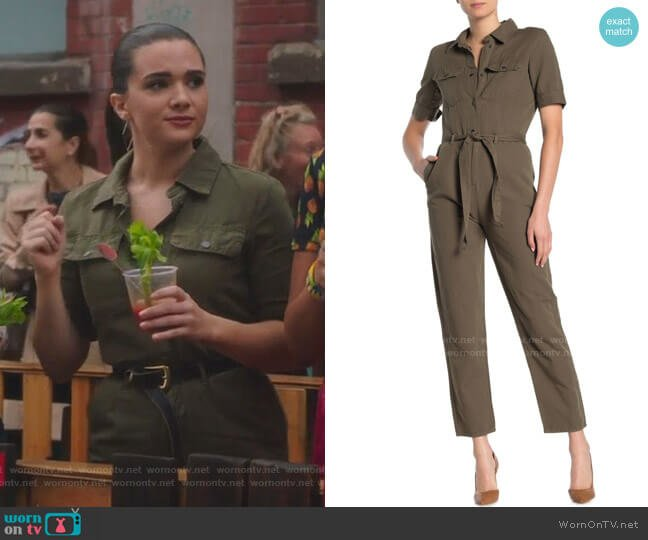 Military Belted Jumpsuit by Frame worn by Jane Sloan (Katie Stevens) on The Bold Type
