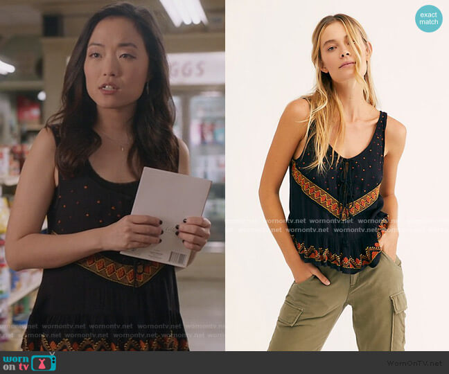 Cambrey Top by Free People worn by Janet (Andrea Bang) on Kims Convenience