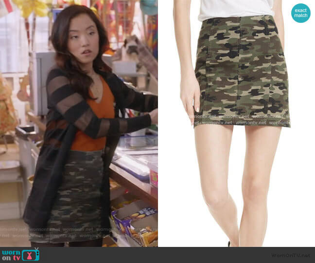 We the Free by Free People Modern Femme Camo Skirt by Free People worn by Janet (Andrea Bang) on Kims Convenience