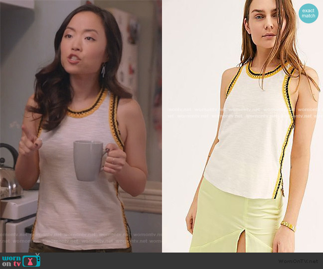 The Free Bora Bora Tee by Free People worn by Janet (Andrea Bang) on Kims Convenience