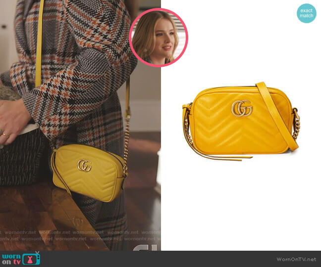 GG Marmont Matelasse Mini Bag by Gucci worn by Kirby Anders (Maddison Brown) on Dynasty