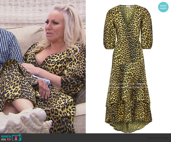 Leopard-print Wrap Dress by Ganni worn by Margaret Josephs  on The Real Housewives of New Jersey