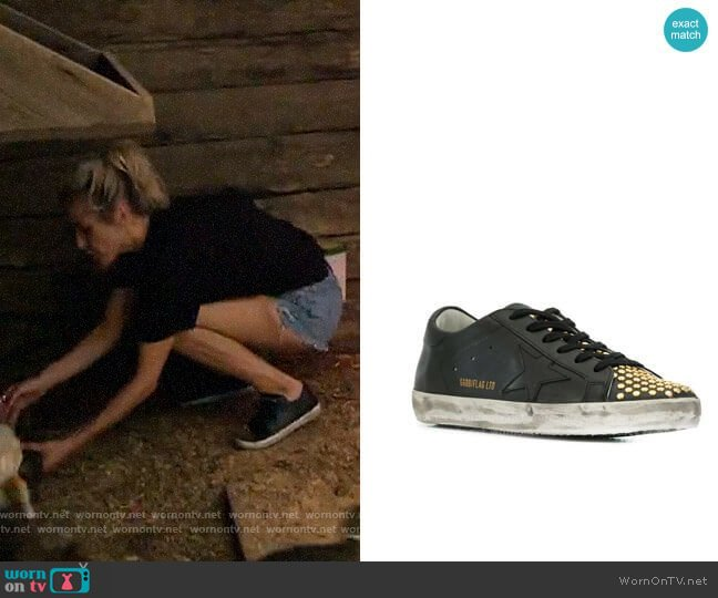 Golden Goose Superstar Studded Sneakers worn by Kristin Cavallari  on Very Cavallari