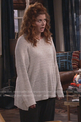 Grace's speckled sweater on Will and Grace