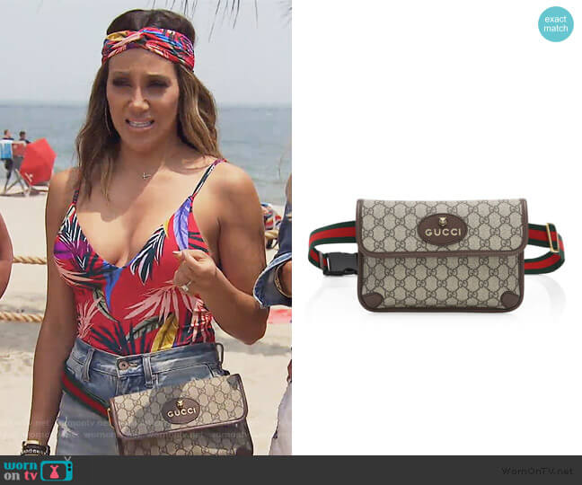 Neo Vintage Canvas Belt Bag by Gucci worn by Melissa Gorga  on The Real Housewives of New Jersey