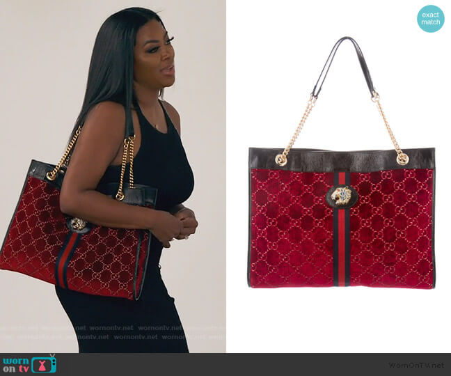 Rajah Large Tote by Gucci worn by Kenya Moore  on The Real Housewives of Atlanta