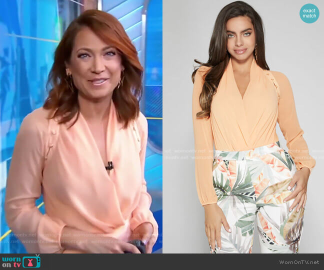 Daria Bodysuit by Guess worn by Ginger Zee  on Good Morning America