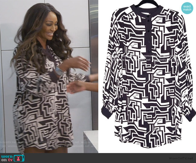Richard Allen x Geometric Print Tunic by H&M worn by Cynthia Bailey  on The Real Housewives of Atlanta