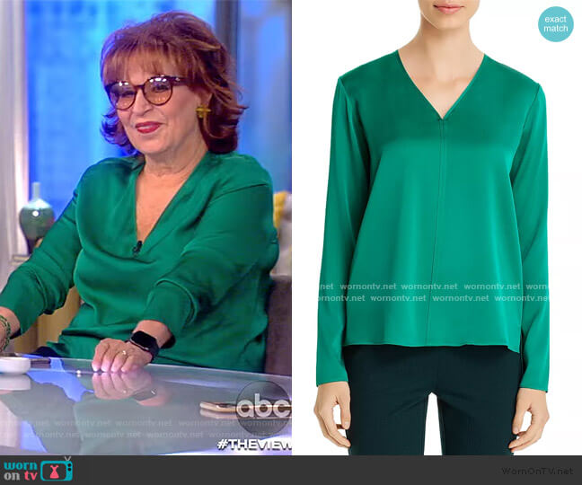 Ivala Silk Stretch Blouse by BOSS worn by Joy Behar  on The View