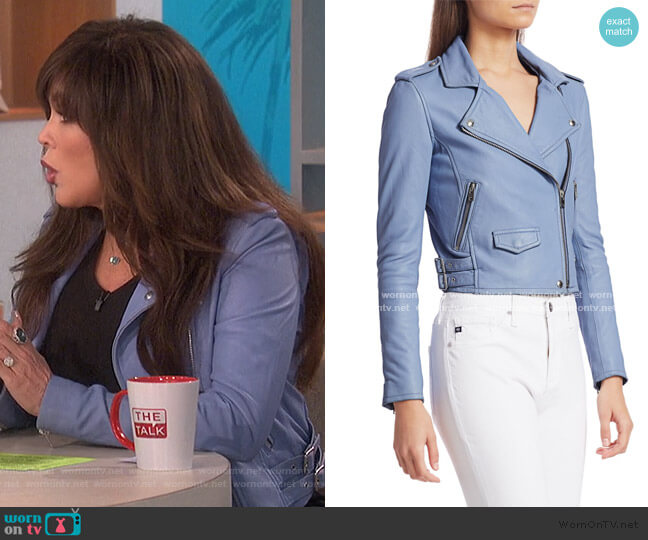 Ashville Leather Jacket by IRO worn by Marie Osmond  on The Talk
