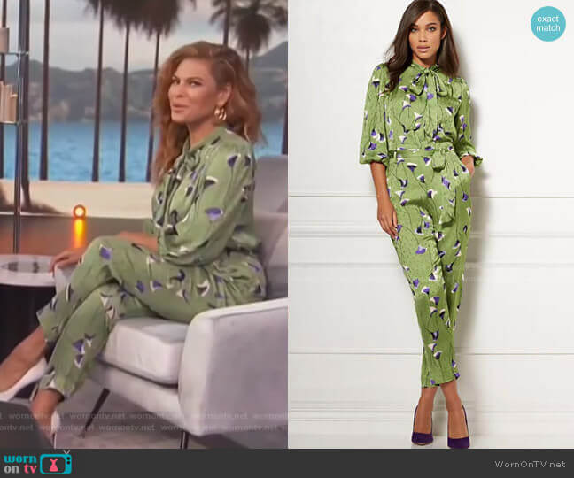 Isabella Bow Blouse and pants - Eva Mendes Collection by New York & Company on Access Hollywood