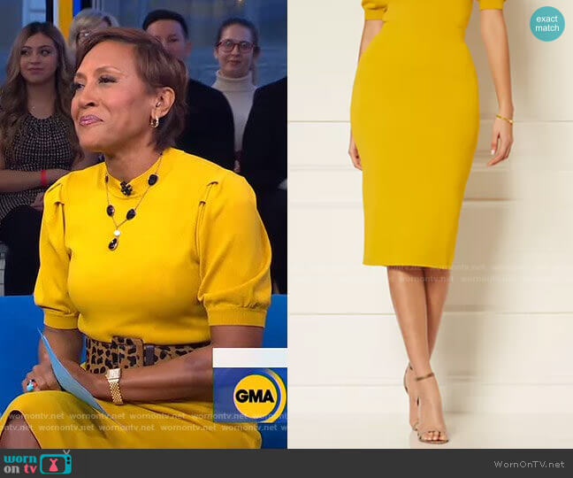 Jacqui Sweater Skirt - Eva Mendes Collection by New York & Company worn by Robin Roberts  on Good Morning America