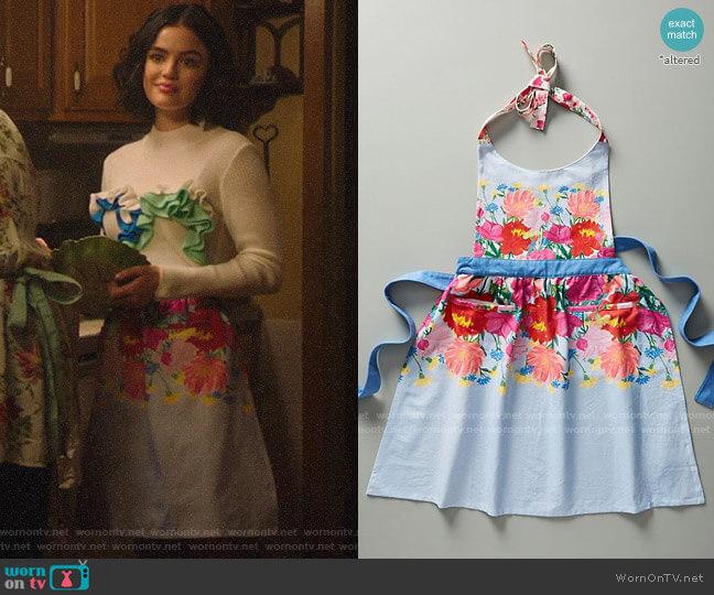 Anthropologie Jackie Diedam Dahlia Apron worn by Katy Keene (Lucy Hale) on Katy Keene