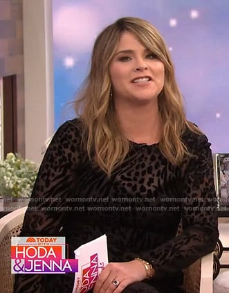 Jenna's black velvet burnout dress on Today
