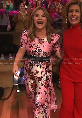 Jenna's pink floral dress on Today