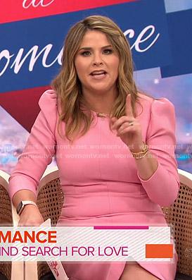 Jenna's pink puff sleeve sheath dress on Today