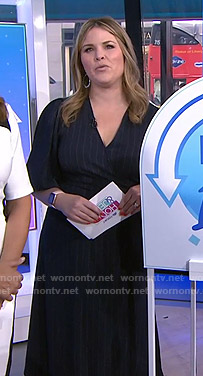 Jenna's pinstripe wrap dress on Today