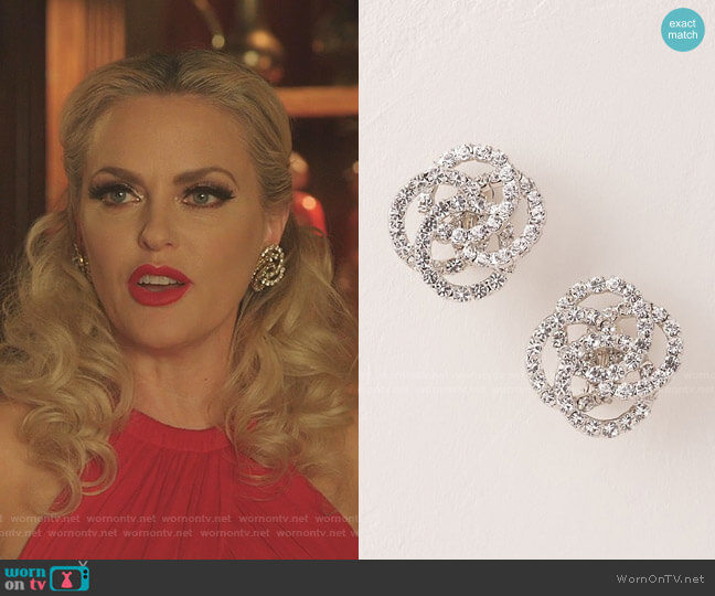 Hewa Earrings by Jennifer Behr worn by Alexis Carrington (Elaine Hendrix) on Dynasty