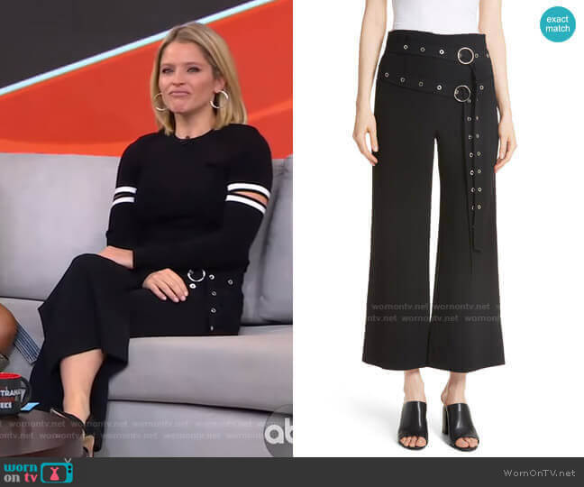 Jessi Double Belt Pants by Cinq a Sept worn by Sara Haines  on Good Morning America